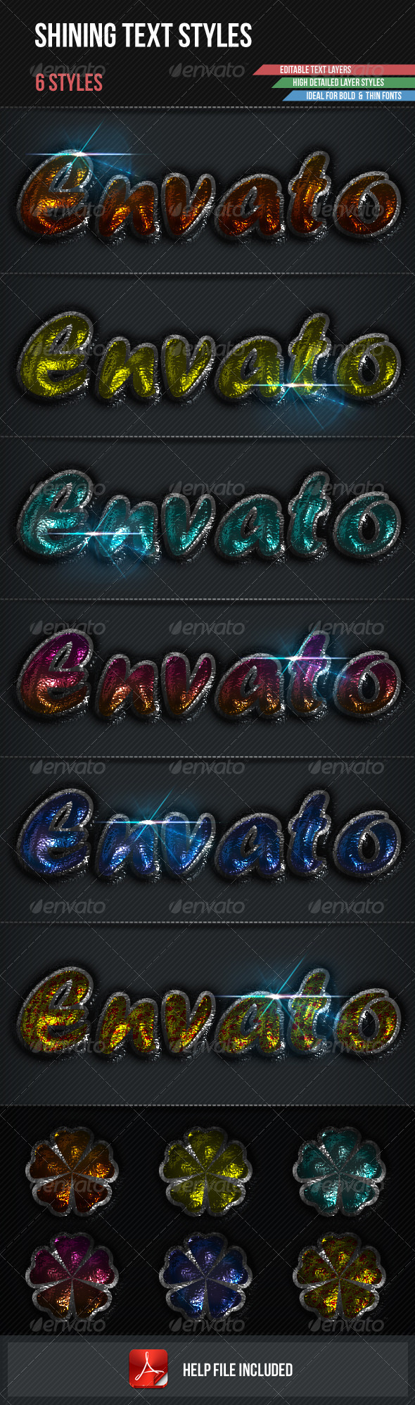 GraphicRiver Shining Text Styles 3350985