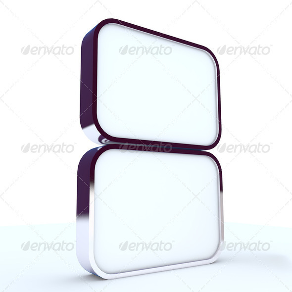 Two blank box display new design aluminum frame - Stock Photo - Images