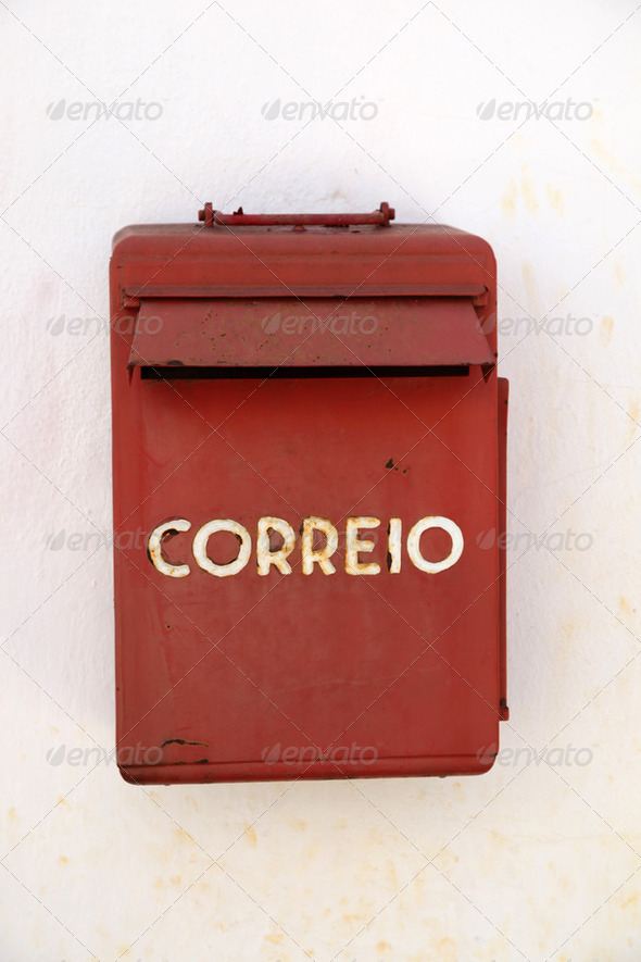 Red Mail Box - Portugal - Stock Photo - Images