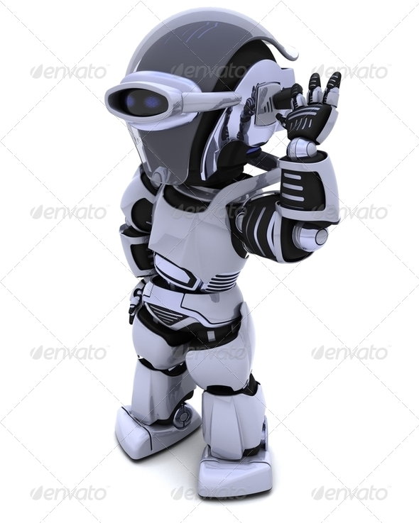 robot listening - Stock Photo - Images