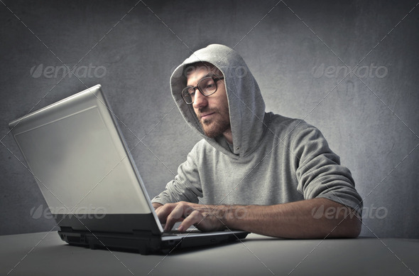 Programmer in action - Stock Photo - Images