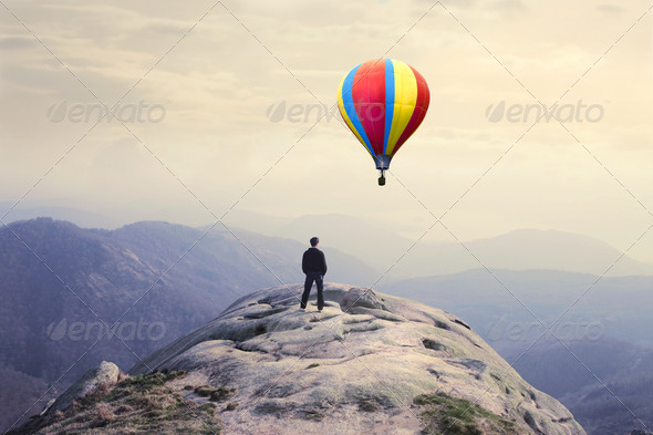 Hot-air balloon - Stock Photo - Images