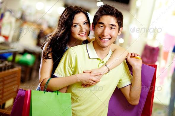 Shopping couple - Stock Photo - Images