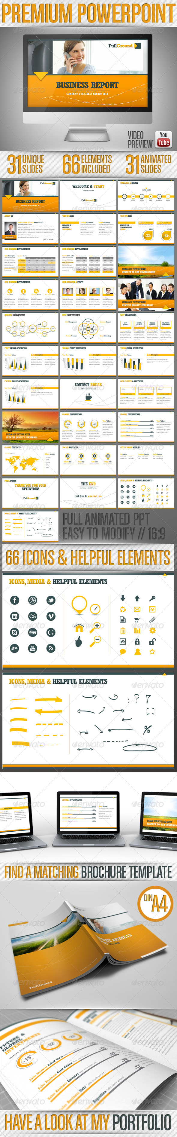 GraphicRiver Fullground PowerPoint Presentation Template 3351499