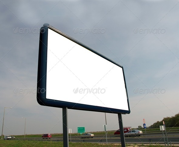 Advertisement board - Stock Photo - Images