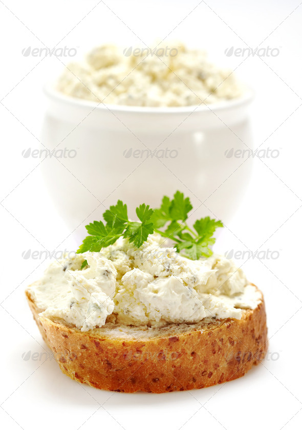 fresh cream cheese - Stock Photo - Images