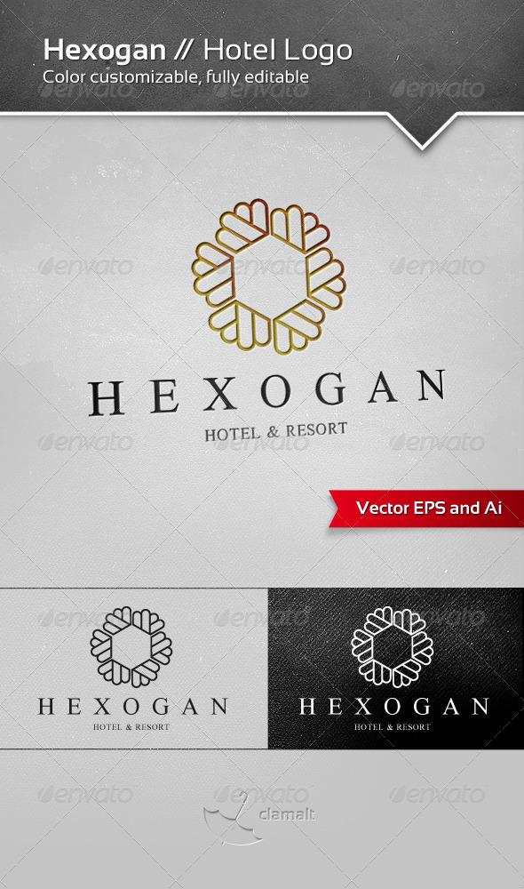 Hexogan Hotel Logo - Symbols Logo Templates
