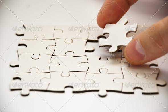 puzzle pieces - Stock Photo - Images