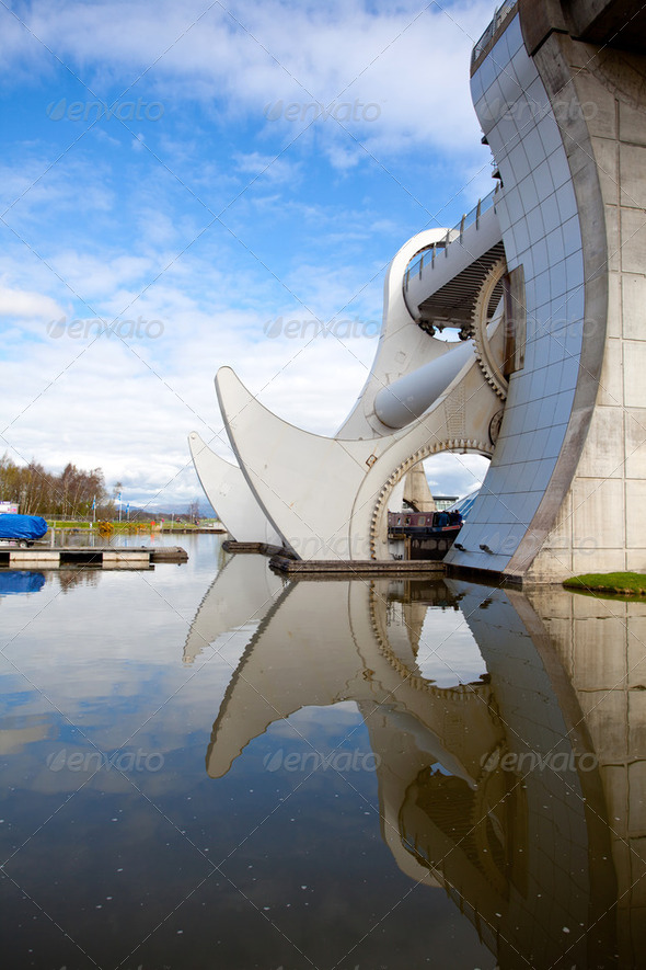 Falkirk Wheel, Scotland - Stock Photo - Images