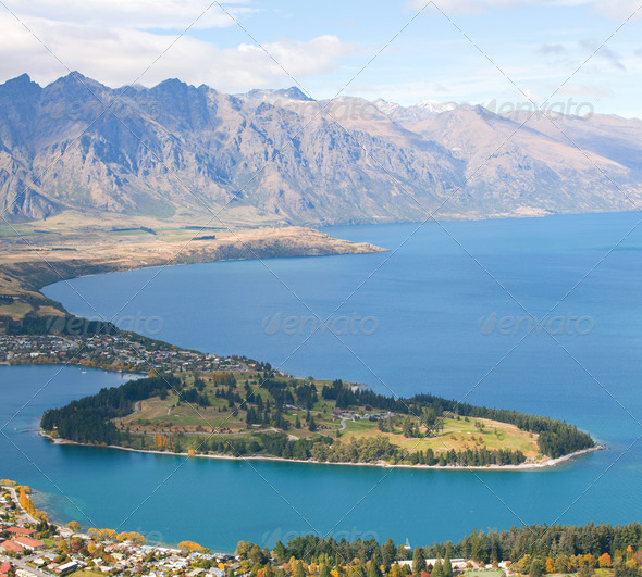Queenstown New Zealand - Stock Photo - Images