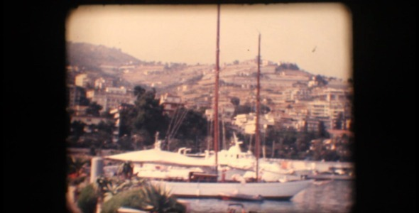 VideoHive Vintage 8mm View Of Port And Sail Boats 3351798