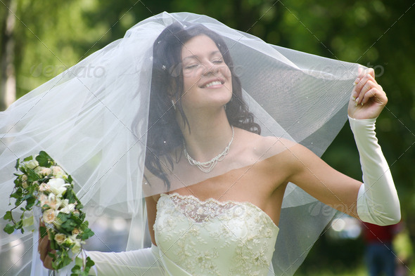Happy bride - Stock Photo - Images