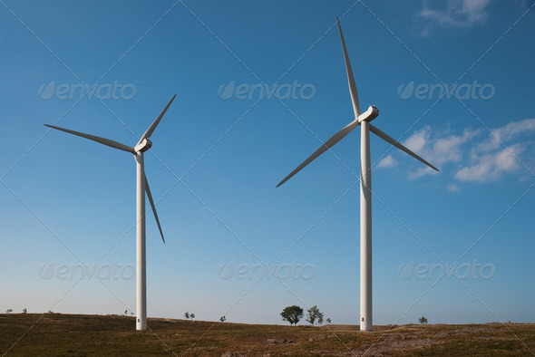 Wind turbines - Stock Photo - Images