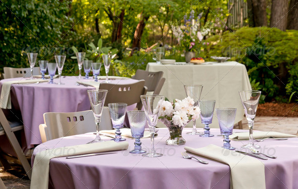 Garden party - Stock Photo - Images