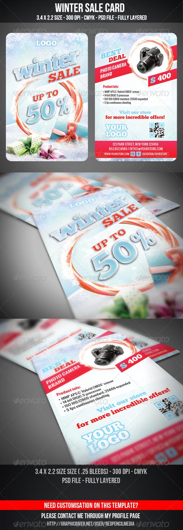 GraphicRiver Winter Sale Card 3351938