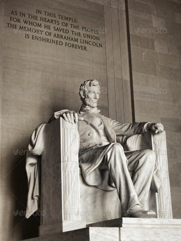 President Lincoln National Memorial Washington DC - Stock Photo - Images