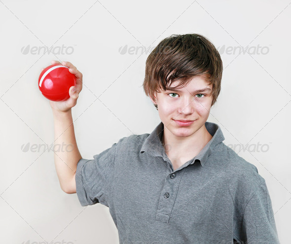 Boy with ball - Stock Photo - Images