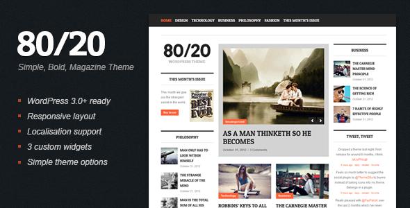 8020 - WordPress Magazine Theme