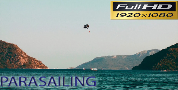 Parasailing with the Beautiful Seascape Full HD