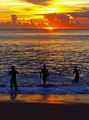 Boys in the Sea at Sunset - PhotoDune Item for Sale