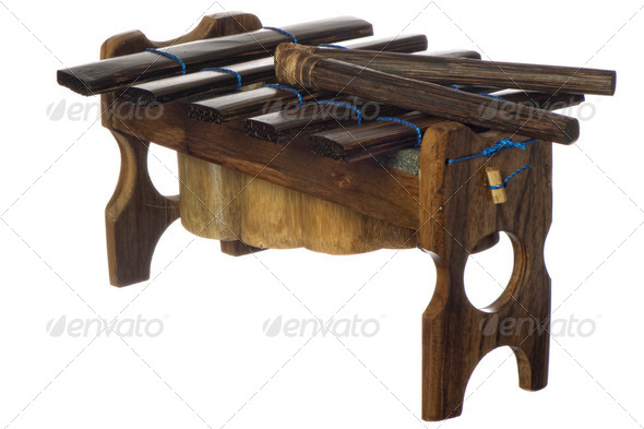 traditional musical instrument of Emeralda - Stock Photo - Images