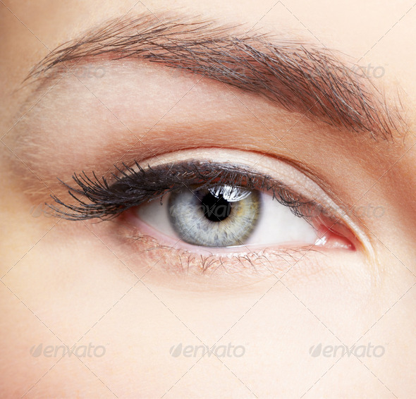eye zone makeup - Stock Photo - Images