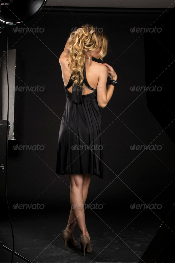 Beautiful Girl In Photo Studio - Stock Photo - Images