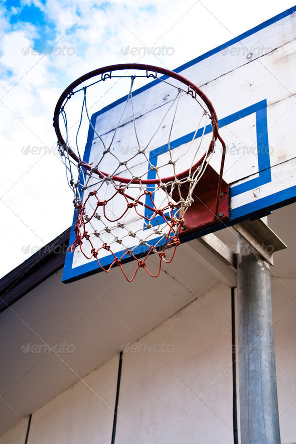 Basketball hoop. - Stock Photo - Images