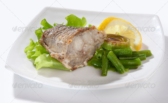 Fried cod - Stock Photo - Images