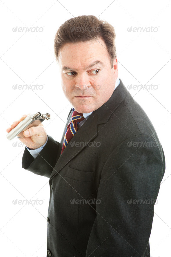 Businessman Alcoholic - Stock Photo - Images