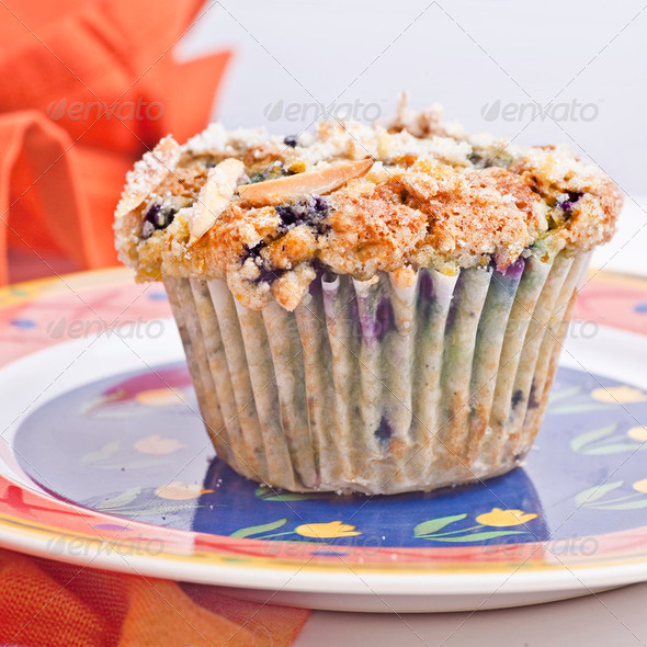 Blueberry Muffin - Stock Photo - Images
