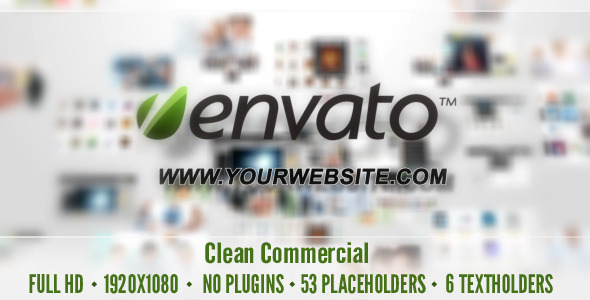 After Effects Project - VideoHive Clean Commercial 3352842