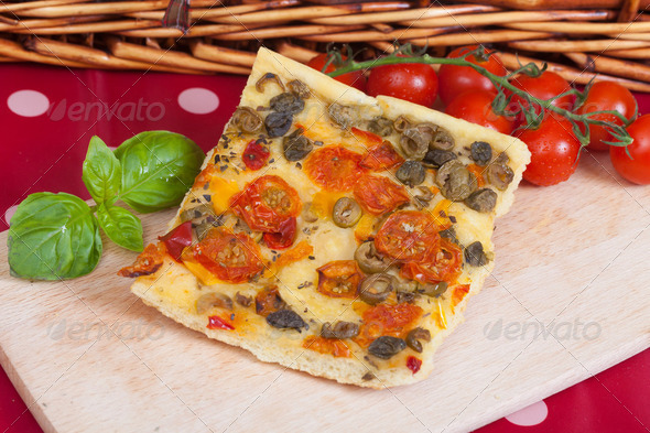 Focaccia bread - Stock Photo - Images