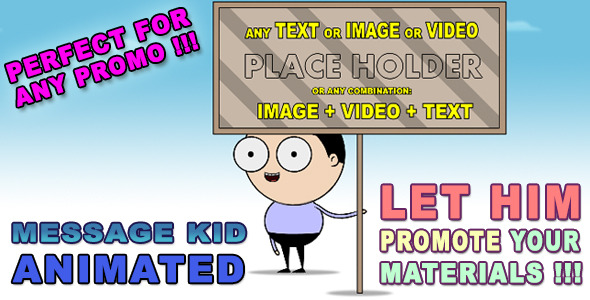VideoHive Message Kid Animated HD 3352958