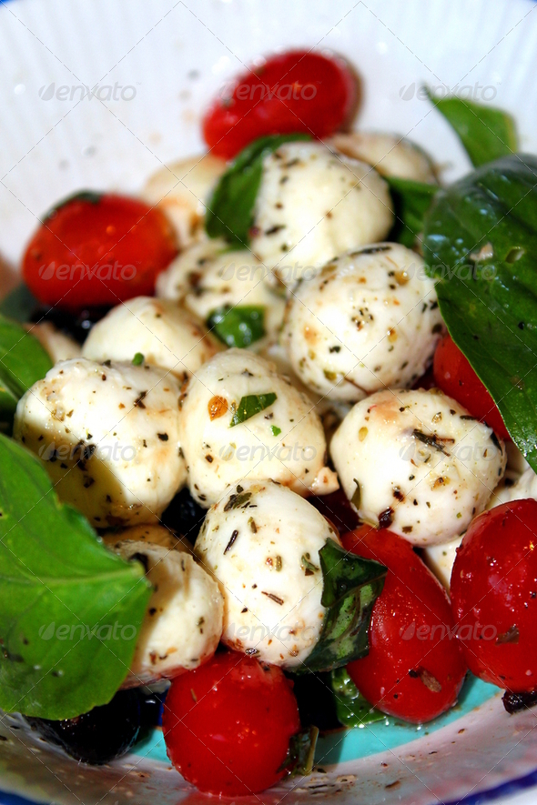Cherry Tomato and Mozzarella Salad - Stock Photo - Images