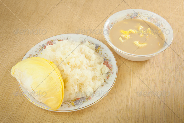 Durian sticky rice - Stock Photo - Images