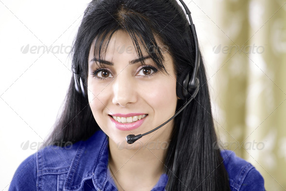 Service on phone - Stock Photo - Images