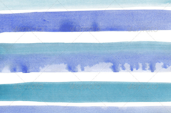 Abstract blue stripes watercolor background - Stock Photo - Images
