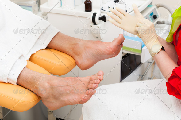 pedicure foot - Stock Photo - Images