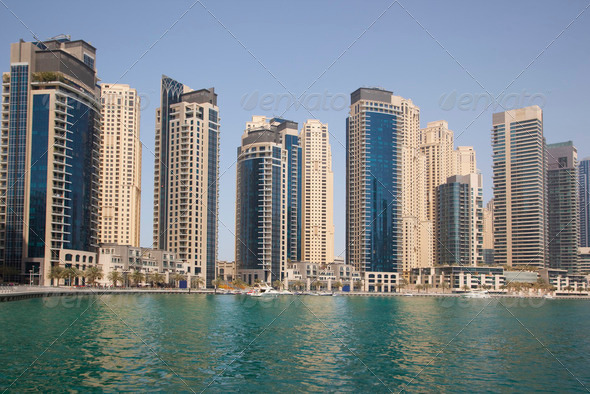 Dubai Marina cityscape - Stock Photo - Images