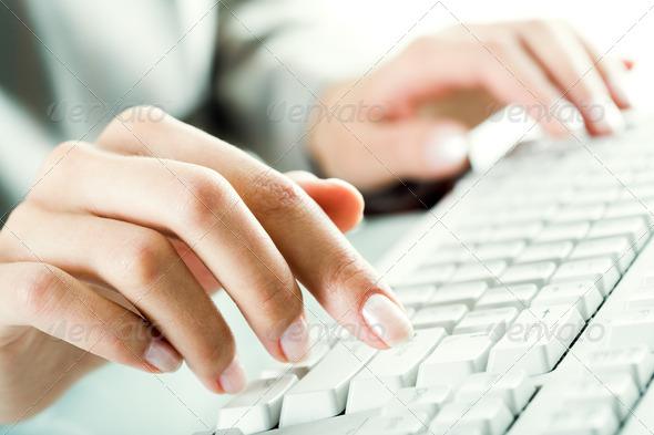 Pressing keys - Stock Photo - Images