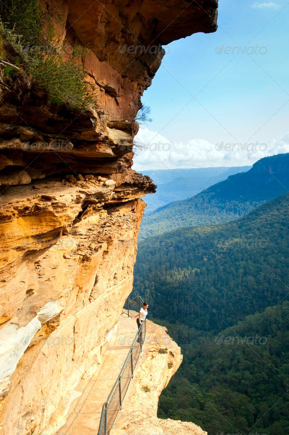 Blue Mountains Walkway - Stock Photo - Images