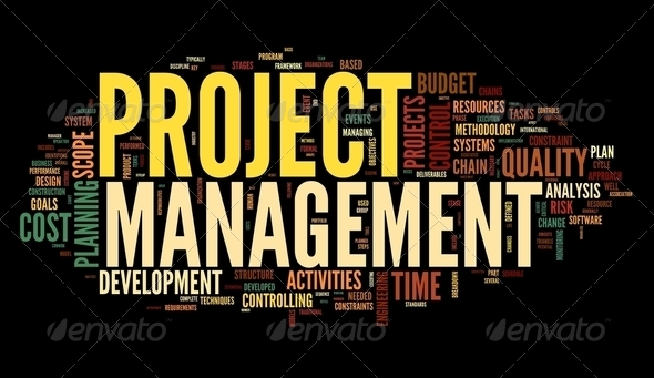 Project management in tag cloud - Stock Photo - Images