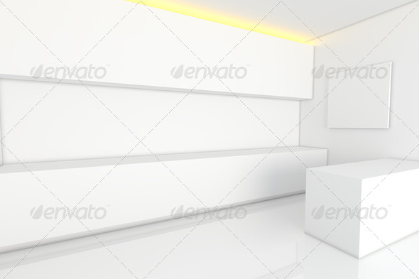 white kitchen room - Stock Photo - Images