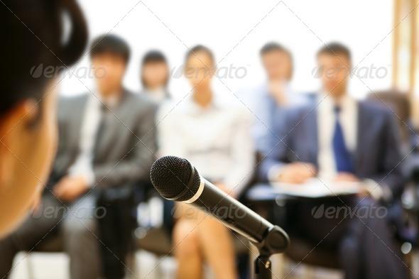 PhotoDune During speech 356983