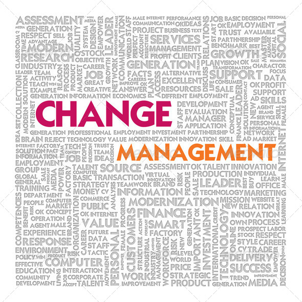 Business word cloud for business concept, Change Management - Stock Photo - Images