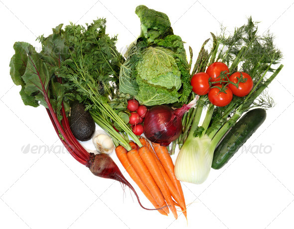 Group of Fresh Spring Vegetables  - Stock Photo - Images