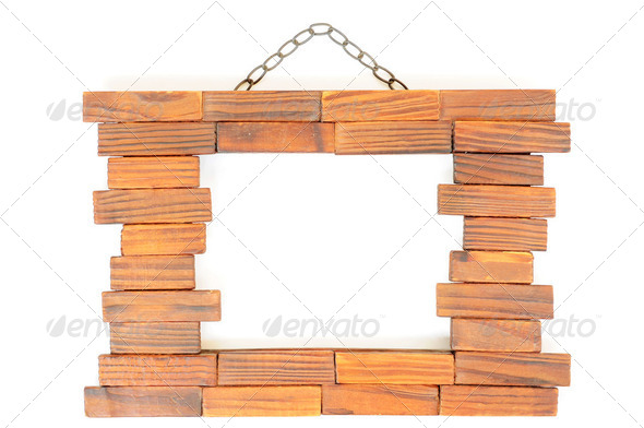A wooden photo frame - Stock Photo - Images