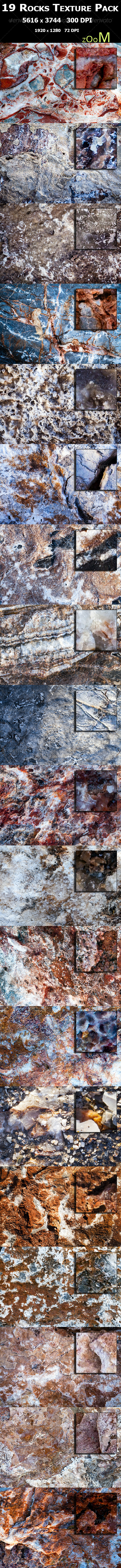 GraphicRiver 19 Rocks Texture Pack 3353221