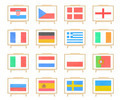 Football euro 2012 nations flag cork board (clipping path) - PhotoDune Item for Sale